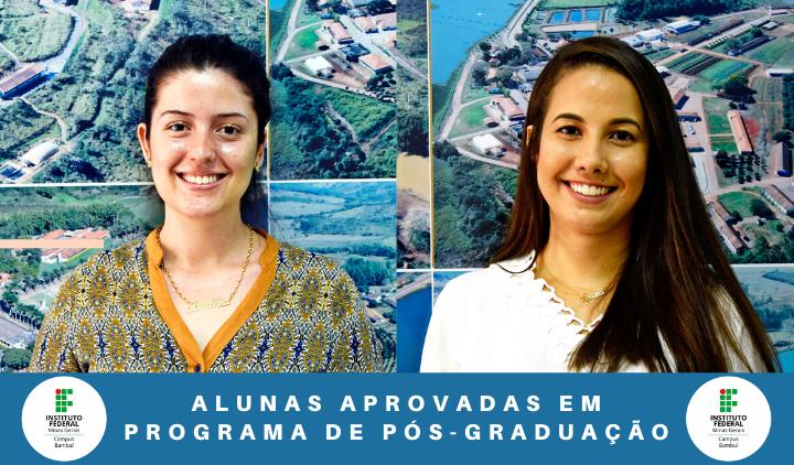 Alunas aprovadas em programas de Pós-Graduação